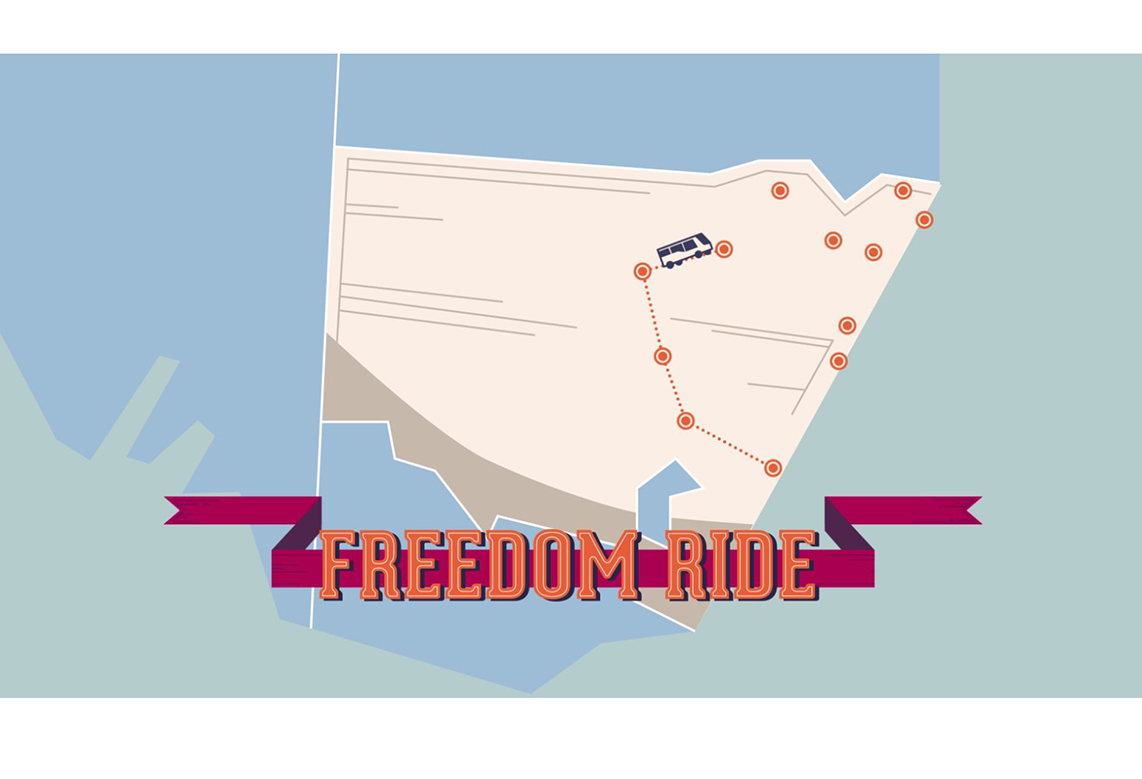 Freedom rides map