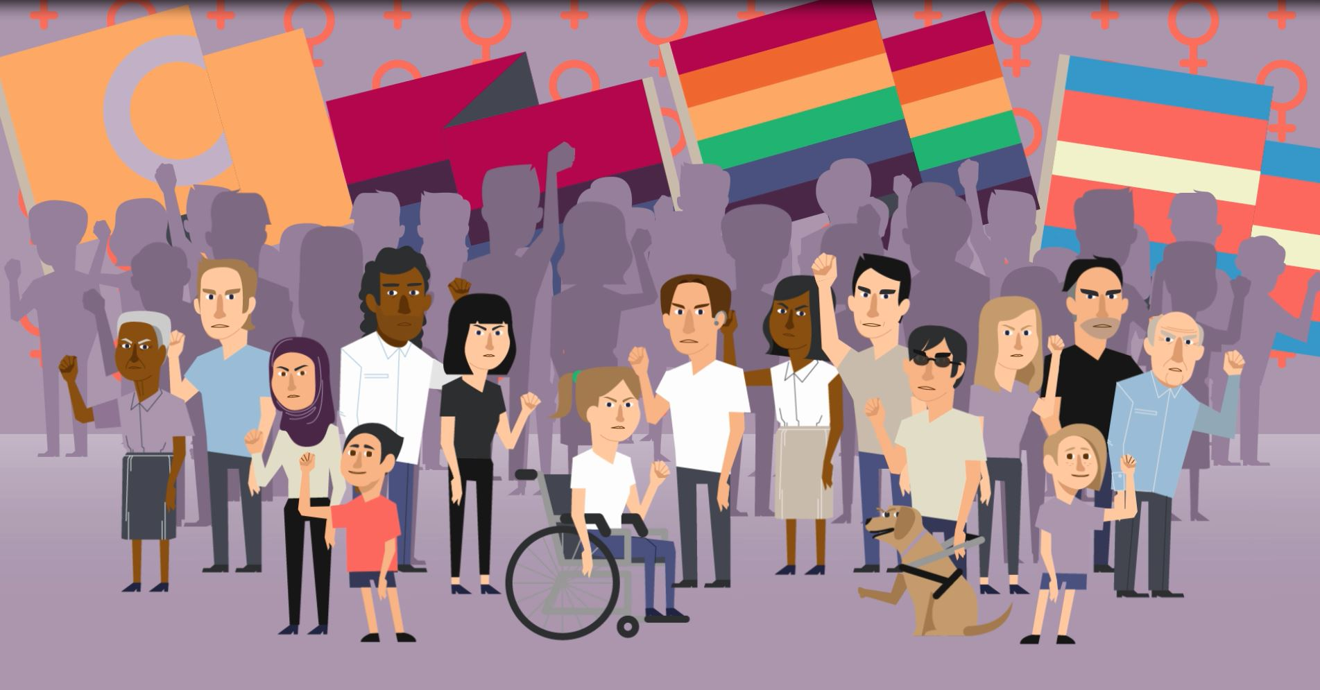 LGBTI protestors cartoon