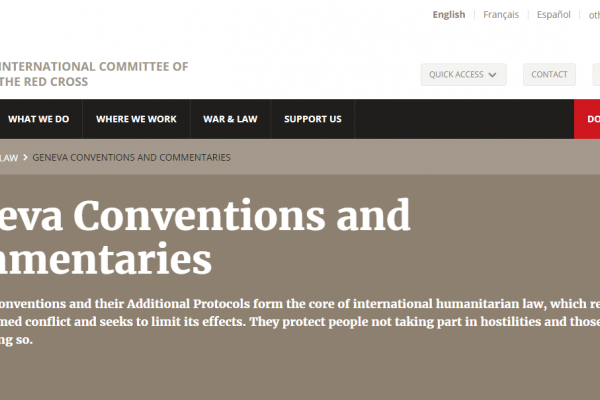 Geneva Conventions and Commentaries