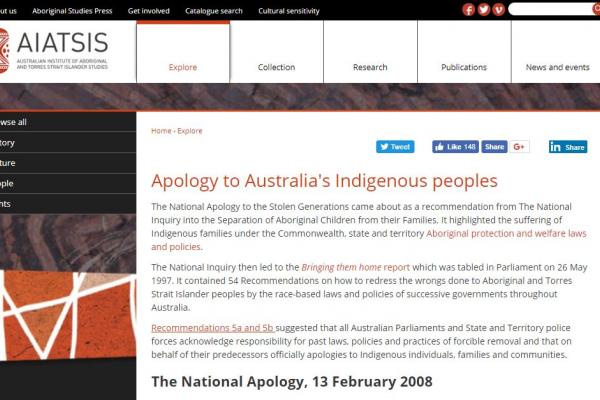 Apology to Australia's Indigenous Peoples